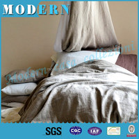 luxury bedspread with high quality pure fiber flax