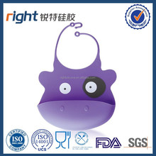 Silicone Baby Bib Purple color - Fitting MORE Growing Babies 3 Mos to PreSchoolers comfortably