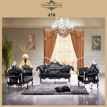 antique sofa european style three seat living room furniture DXY-825#