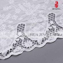 Best Factory Direct Sales Lace Accessories Custom Print White Wedding Dress With Red Trim