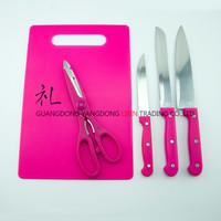 knife scissors chopping board promotional cheap kitchen stuff