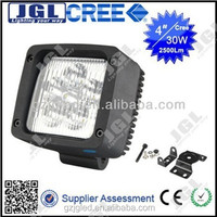 High bright high power factory car work lamp 4x4 off-road headlight 30W cree led work light, tractor truck