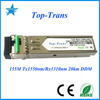 Hot selling item Compatible AT-SPFXBD-LC-15 sfp optical module TOP-BIDI-155M-20BD DDM 155M Tx1550/Rx1310nm 20km BIDI