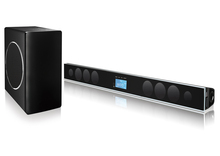 """TV USB/SD/BLUETOOTH/TV/AUX/OPTICAL/COAXIAL/FM/ 2.1CH HOME THEATER SOUNDBAR SPEAKER , WITH 8""""INCHES WIRELESS SUBWOOFER"""