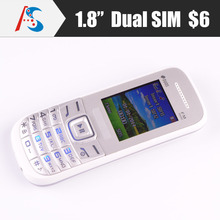cheapest 6$ dual sim basic phone mobile original E1205 E1207