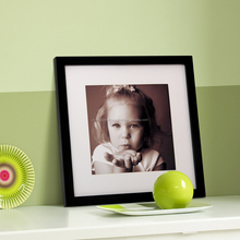 baby girl 6x6 square wooden photo picture frame all colors available