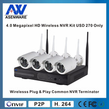 H 264 WIFI NVR Camera System 4 in 1 Kit AW-K9504L-W