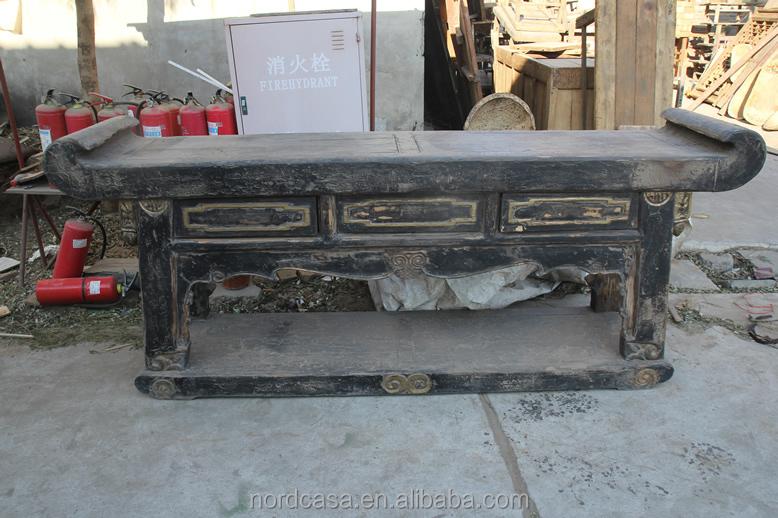 골동품 중국어 가구 고풍스러운 고민 테이블 매립지 제단 테이블 ...