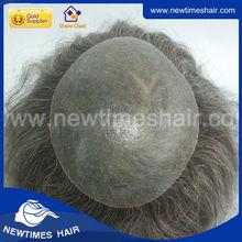 Indian Remy Hair Gray Hair Men Toupee