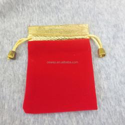 10*12 CM Red&Black Velvet Gold Stain Wedding Gift Bags For Necklace,Rings...