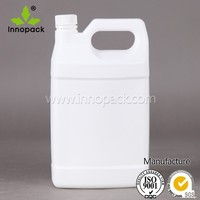 White and transparent 4L HDPE jerry can with screw lid
