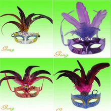 2015 Newest White Feather Masks For Party Decoration