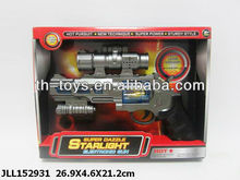 BO Space Gun with Optional Infrared,revolving spearhead and colorful LED light soft bullet gun toy