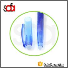 2015 china alibaba popular logo printing multicolor erasable gel pen with eraser