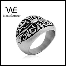 Fashion Jewelry Stainless Steel Men Ring in Cross Style