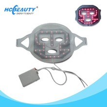 Red Led light heated facial mask for skin care
