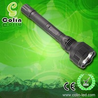 Directly recharge police security led flashlight with 2x18650 li-ion batteries