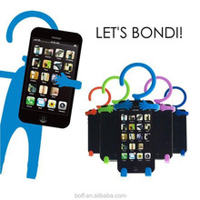 Adjustable wall mount cell phone holder desk stand for iphone/ samsung galaxy s3/4/5/6
