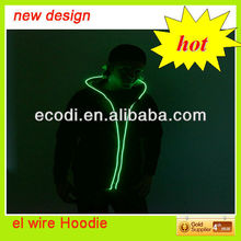 Eyecatching!! EL Blinking Hoodie,LED Light Clothing,Clothes Blink fast/slow/on
