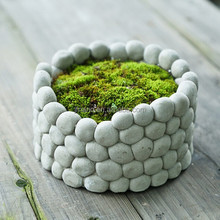 Creative design cement flower pots square concrete planters
