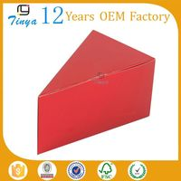 triangle shape paper packing pie slice box