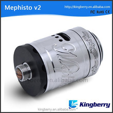 2014 hottest rebuildable atomizer mephisto v2 rda 1:1 clone in stock from china factory kingberry