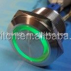 Stainless Steel 304 Blue Green angel eyes Led 22mm anti-vandal illuminated push button switch
