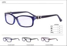 acetato de gafas de diseño de metal con el templo de decorar marco de gafas