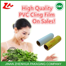 stretch film jumbo roll food packing film pvc cling film plastic core paper roll