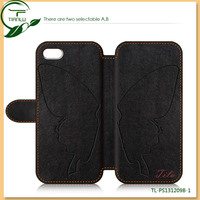 Wallet PU Leather Smart phoneCover Case For iPhone 5 Fashion Style mobile phone Back Case Cover Stand for iphone5 5s accessories