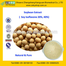 GMP Factory Supply100% Natural Soybean Extract 20% 40% Soy Isoflavones