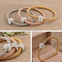 fashion jewelry men stainless steel twisted wire charm bracelet