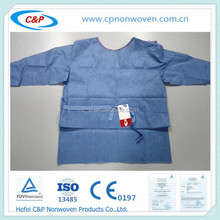 Disposable/single use Blue/Green surgical gown