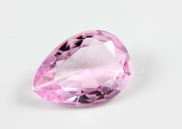 china pink pear shaped glass gemstone names of
