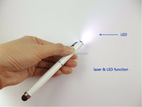 3 in 1 Capacitive stylus pen LED light laser pointer pen touch pen for All Smart phones and tablets PC