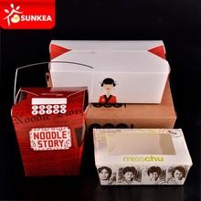 Desechable contenedor comida china para llevar de papel con ventana