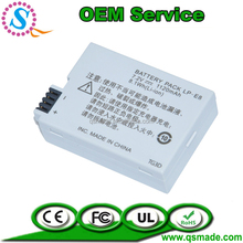 Rechargeable camera lithium battery LP-E8 for Canon T2i EOS 550D 600D 650D 700D T3i X7i