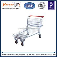 Good market enjoying popular platform flat trolley for supermarket/platform flat bed trolley