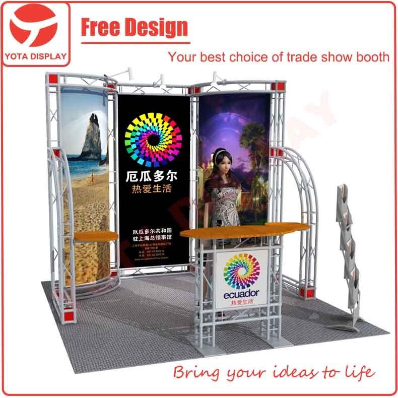 Yota personnalis en aluminium utilis stand de foire commerciale 3x3 stand d 39 exposition for Conception stand de foire