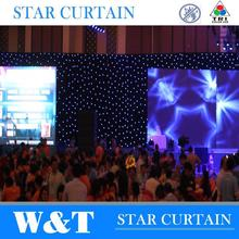 W&T Colorful custom drapery for stage decoration