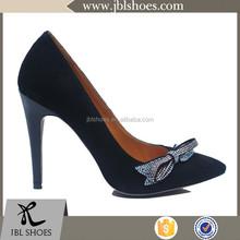 new fashion design high heel woman shoe with bowtie design