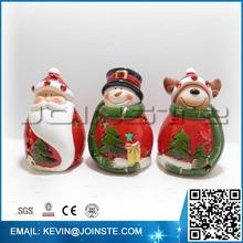 Cerâmica decoração do natal papai noel enfrenta