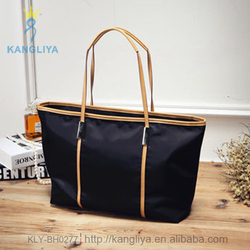 Very light in weight handbag nylon oxford large tote bag parachute fabric bags