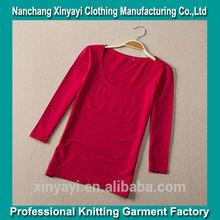 Manga 3/4 t camisa seca en forma para las mujeres de china deimportación camisas de t