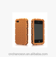 Korea Style Cute Sandwich Biscuit pattern silicone mobile phone case cover for iphone 5 5s CO-SIL-412