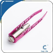 Women's Light Pink Utility Tweezers with LED Light