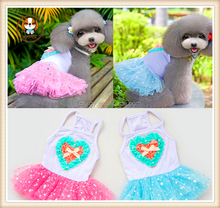 Wholesale Factory Dog Dress Red Star Pet Dress