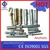 sleeve anchor/A2/A4/HDG/Zinc Oxide/concrete wall anchor plug Wedge Anchor