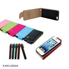 Leather belt clip flip wallet case for iphone 5