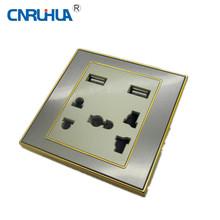 Dos USB puerto universal del zócalo de pared USB Toma de pared USB